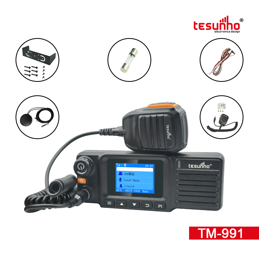 4G Trunking Mobile Radio With GPS TM-991
