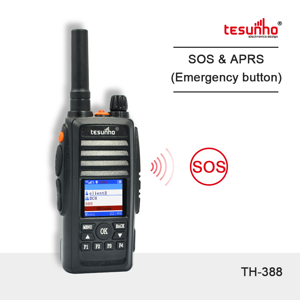 APRS 4G Police Radio With Real Ptt Tesunho TH-388