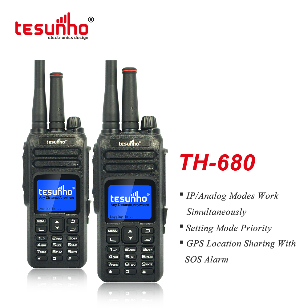 Tesunho TH-680 Walkie Talkie With 3G VHF/UHF Analog POC Radio
