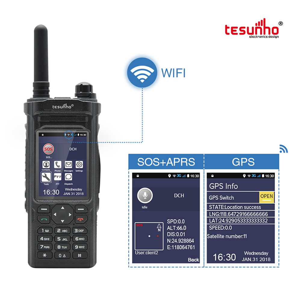 TH-588 Network WIFI PoC Walkie Talkie Made In China