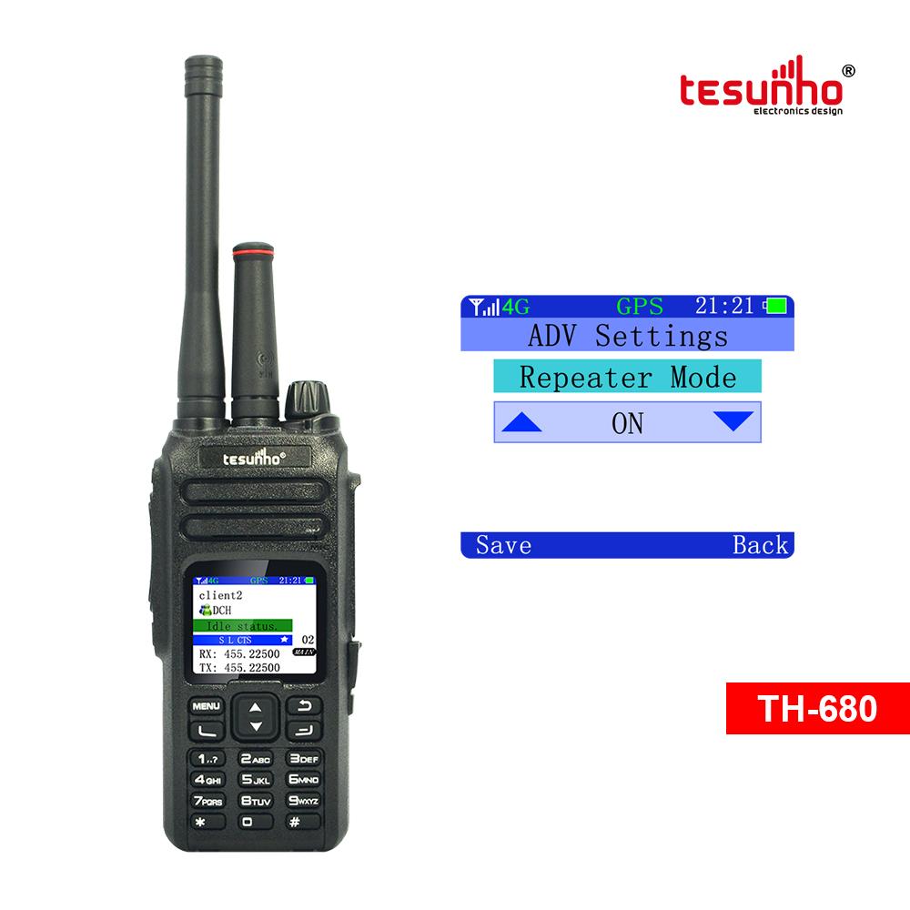Analog POC Talky Walky Device Radio Real PTT TH-680