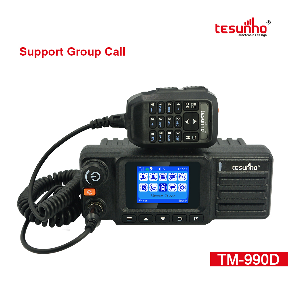 UHF Analog LTE 4G Mobile Radio Tesunho TM-990D