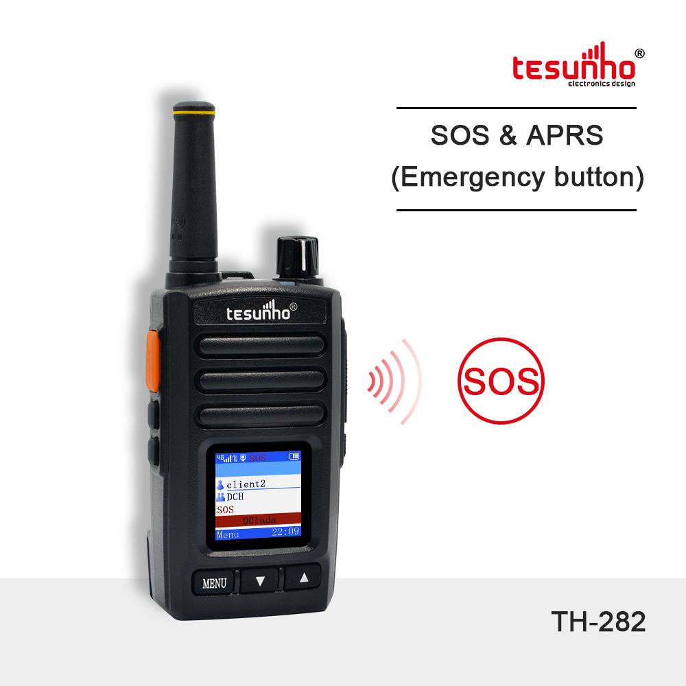 Mini Lightweight Black Handheld PoC Two Way Radio TH-282