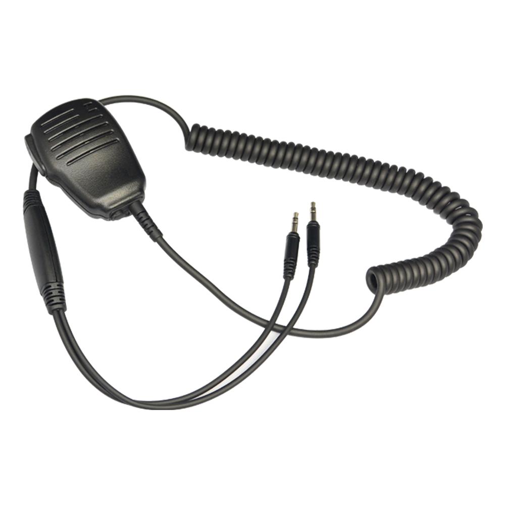 Dual Plug Hand Microphone Walkie Talkie Handmic