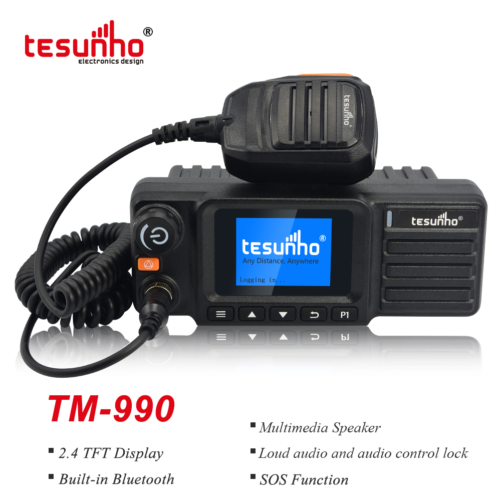 TM990 CE Approved Vehicle Walkie Talkie 4G With GPS Tracking