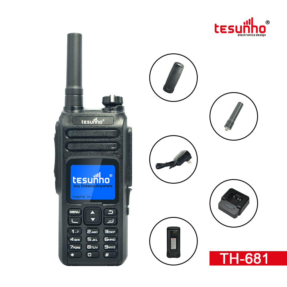 Black 4G LTE POC Network Radio TH-681 Tesunho