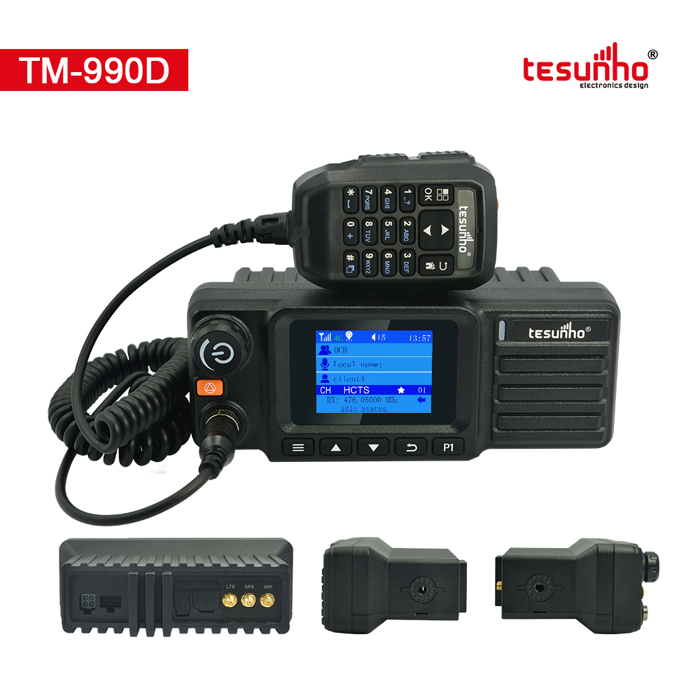 LTE Dual Mode UHF Analog Car Radio TM-990D