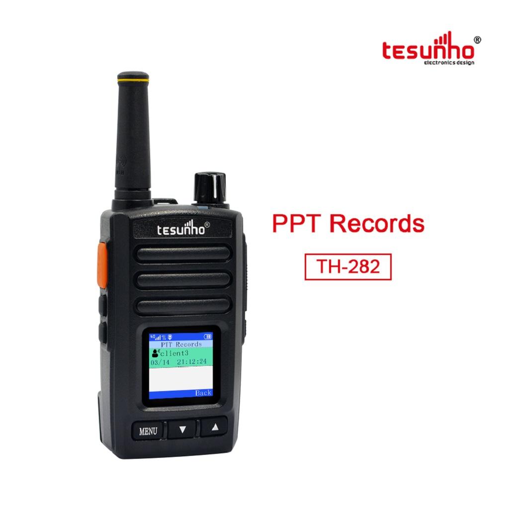 Black Smallest 4G Walkie Talkies Intercom TH-282