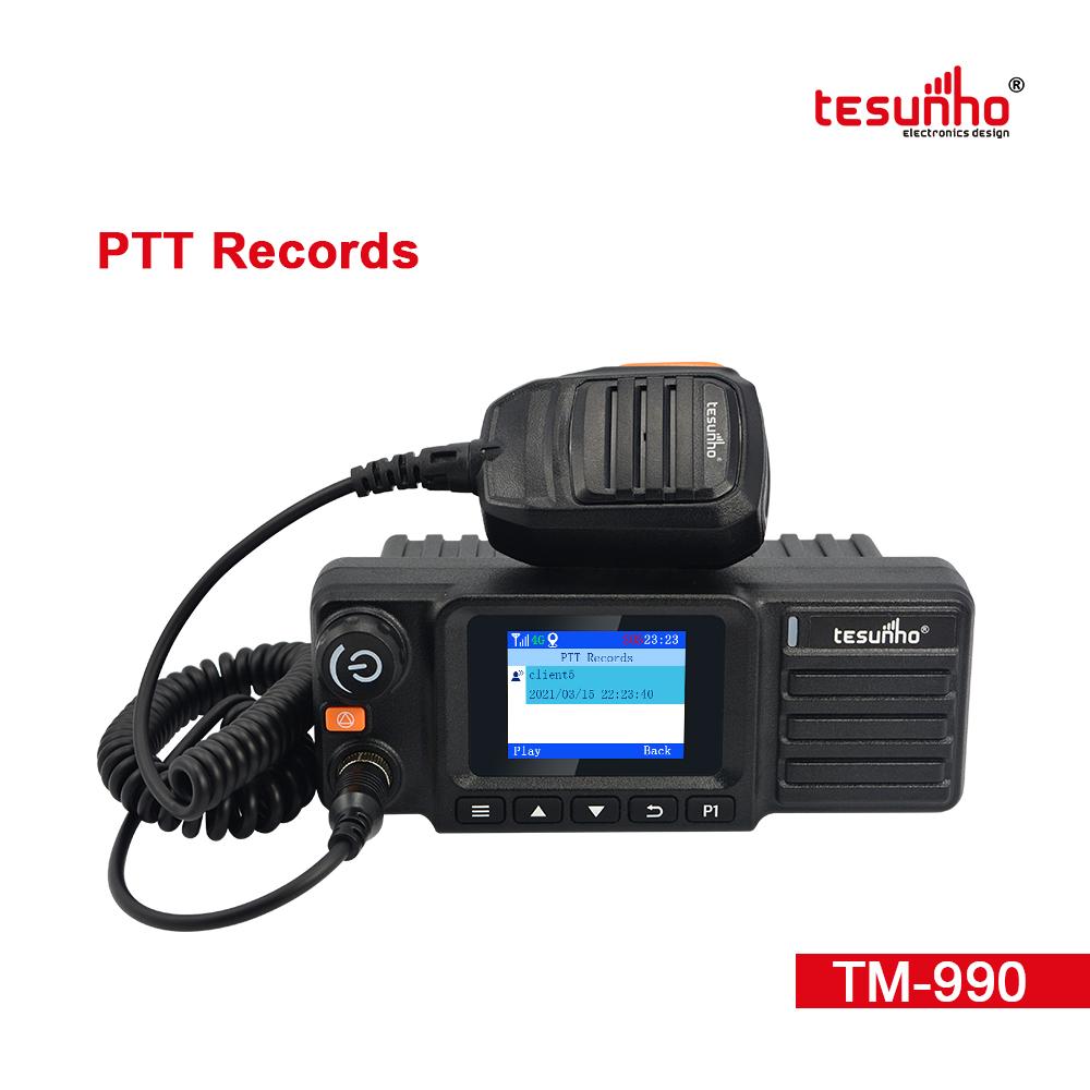 LTE Car Radio PTT SIM Card Walkie Talkie TM-990