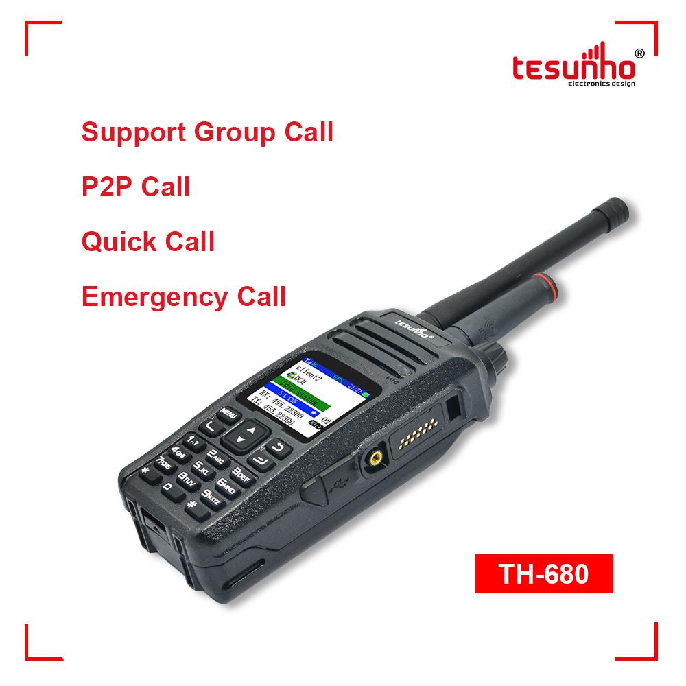 VHF/UHF Network 2 Way Radios Panic Alarm TH-680