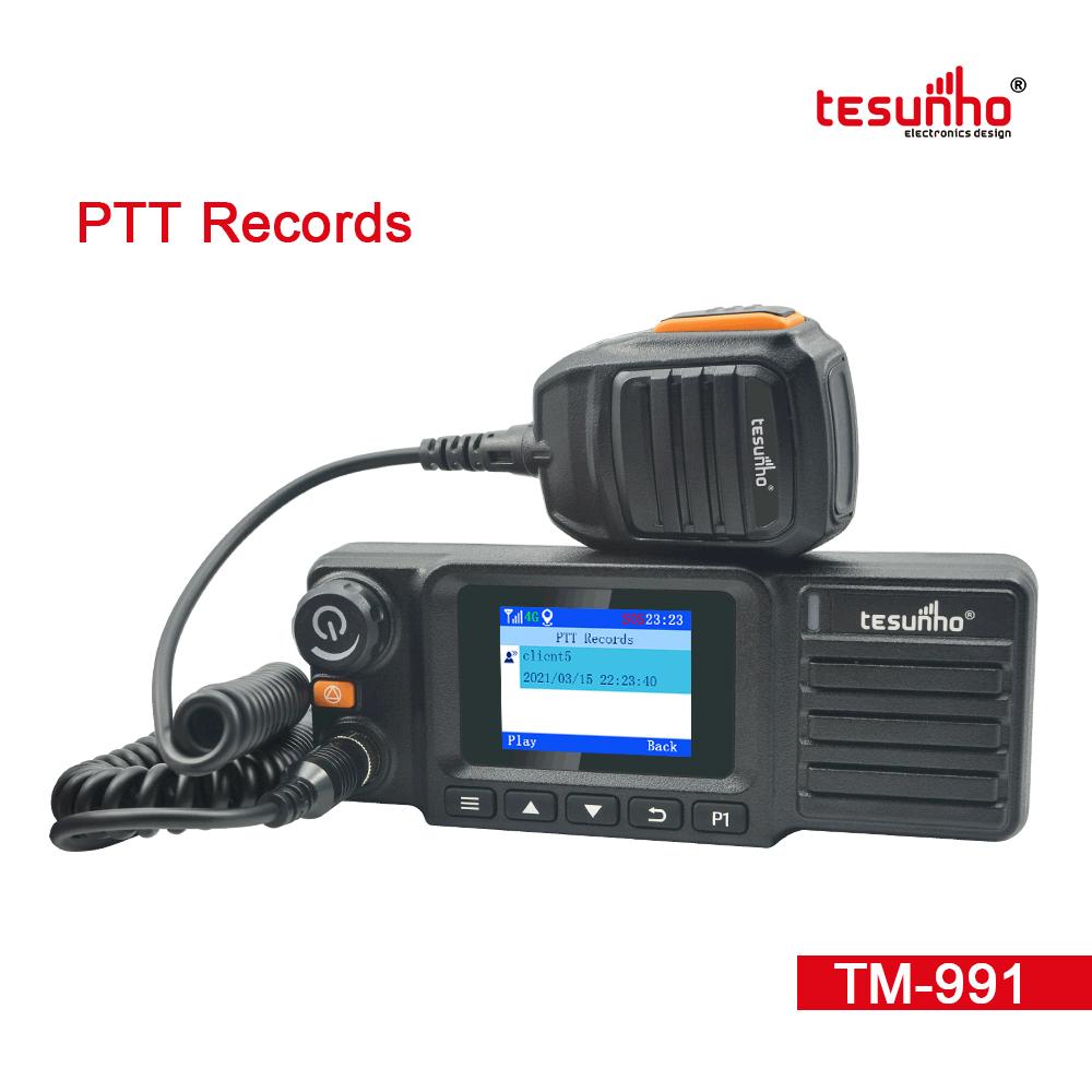GPS Police Vehicle Radio Real PTT Tesunho TM-991