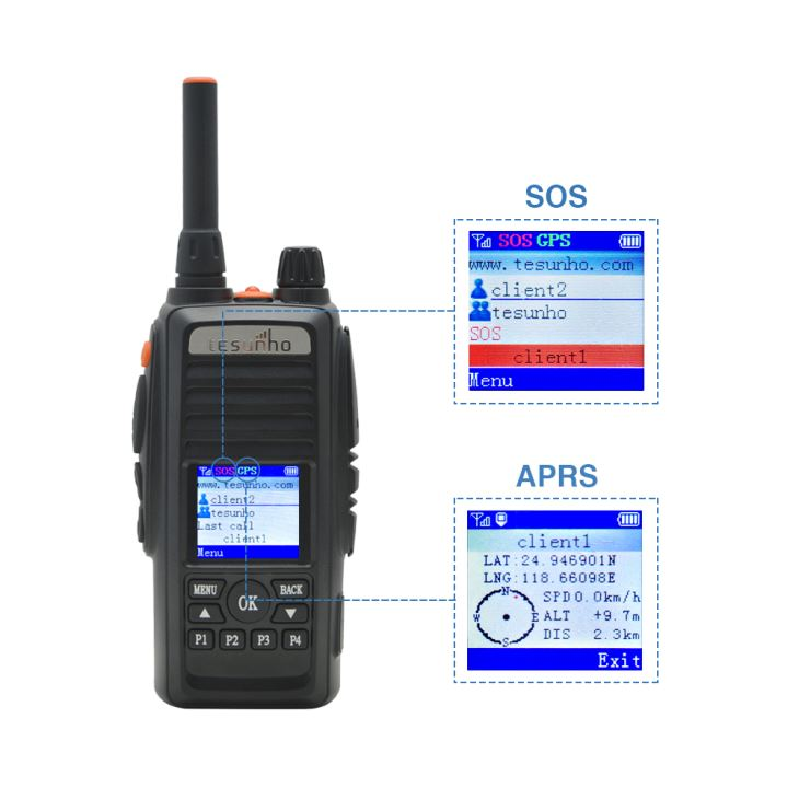 Strong GPS SOS Walkie Talkie for Skiing